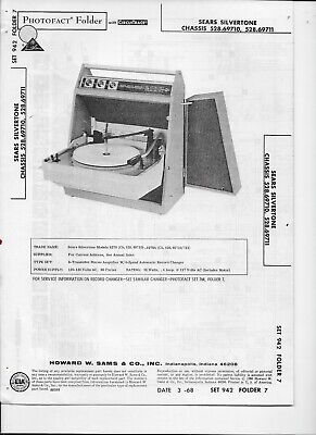 $ CDN3.01 • Buy 1968 PHOTOFACT Sears Silvertone Stereo Amplifier Record Player #2115