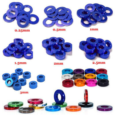 £2.51 • Buy 10PCS M3 M4 M5 M6 Color Round CNC Aluminum Alloy Flat Spacer Washers Gasket Ring