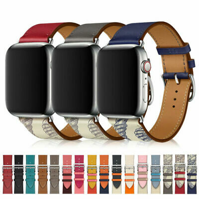 AU13.89 • Buy Leather Single Tour/Double Tour Strap Band For Apple Watch Series 6 5 4 3 2 1 SE