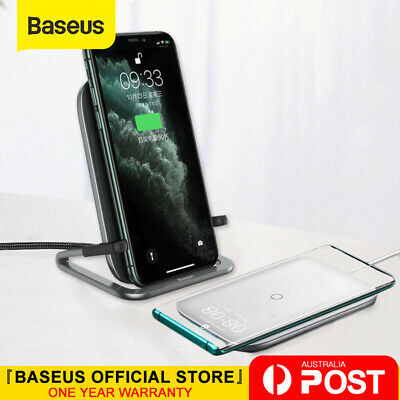 AU28.99 • Buy Baseus 15W Qi Wireless Charger Charging Pad Holder For Samsung IPhone 11 XS XR