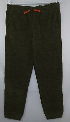 $12.99 • Buy Boys Tek Gear Dark Olive Heather Microfleece Jogger Pants NWT Large Husky $25