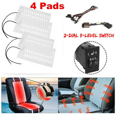 $ CDN72.24 • Buy 2 Seats Install Universal 2 Dial Switch Seat Heater Winter Heated Seat Kit 4 Pad