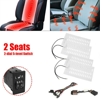 $ CDN72.24 • Buy  4 Pads 2 Seats 5 Level Switch Heater Seat Pad For Winter Interior Accessories