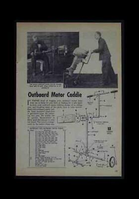 AU7.15 • Buy Outboard MOTOR CADDIE HowTo Build PLANS Dolly REPAIR STAND