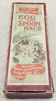 Egg And Spoon Race Antique Dexterity Game C1900 • 49.99£