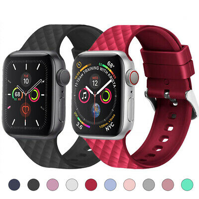 $ CDN5.21 • Buy Silicone Sports Watch Band Strap For Apple IWatch Series 5 4 3 2 40/44mm 38/42mm