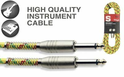 $ CDN19.50 • Buy 20' Vintage Tweed Gold Cloth Covered Guitar Amp Cable Cord Stagg SGC6VT YL