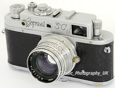 Zorki 3-C 35mm Rangefinder Camera + Jupiter-8 2/50mm Lens Made In USSR In 1956 • 119.15£