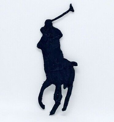 Ralph Lauren Polo Logo Sew On Iron On Embroidered Patch - Black  • 1.99£
