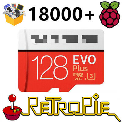 AU50.99 • Buy Emulation Station RetroPie 128G SD For Raspberry Pi 3 B+ 18000+ Games 30+ Sytems
