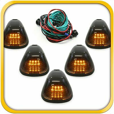 $29.49 • Buy 5 Smoke Cab Marker Light W/ Amber LED Assembly Wiring Fits 99-16 Ford 150-550