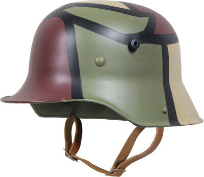 WW1 German M16 Camo Steel Helmet – Tri 3 Colour Camo Quality Replica Stalhelm • 103.95£