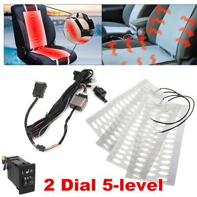 $ CDN72.24 • Buy  4x Car Seat Accessories 5-level Switch Seat Heater Carbon Fiber Heated Pad