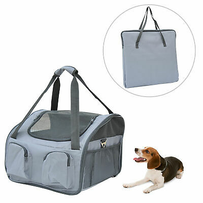 Pets Carrier Folding Bag Car Seat Cat Dog Puppy Portable Travel Cage Mesh Holder • 19.99£