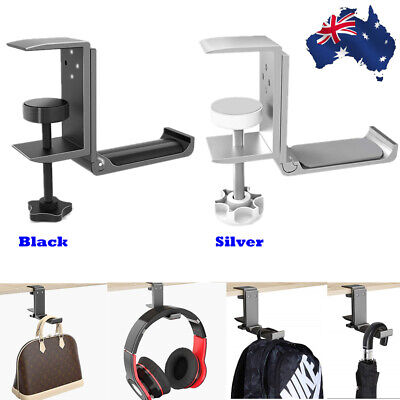 AU19.97 • Buy Headset Hanger Headphone Hook Holder Desk Mount Stand With Foldable Clamp