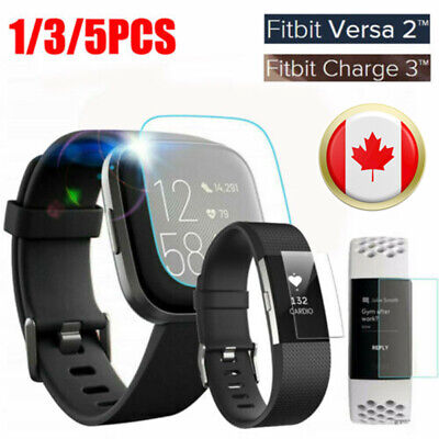 $ CDN3.26 • Buy For Fitbit Versa Lite Versa 2 Charge 2 3 Tempered Glass Screen Protector Cover F