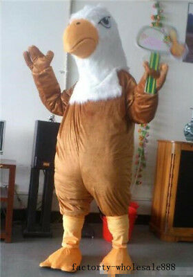 Brown Bald Eagle Mascot Costume Advertising Fancy Dress Cosplay Adults Parade UK • 129.27£
