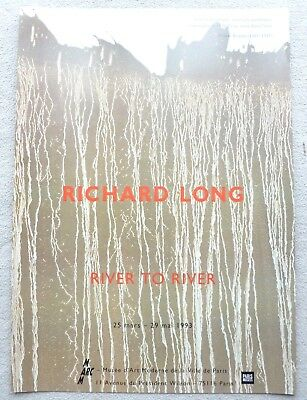 RICHARD LONG  River To River POSTER   1993 FRENCH ART EXHIBITION POSTER RARE • 74.99£