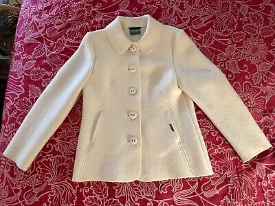 $34.99 • Buy GEIGER COLLECTIONS Of Austria Pure Wool Ivory/Beige Jacket Size 36 Europe US 8