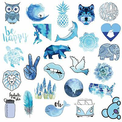 $11.94 • Buy VSCO Stickers For Hydro Flask , 50 Pcs Blue Waterproof Stickers For Laptops ETC