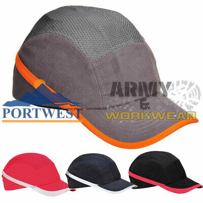 Protective Bump Cap Portwest Vent Cool Hard Hat Safety Baseball Head Protection • 10.95£