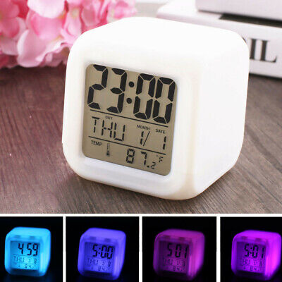 Fashion Alarm Clock Cool LED Clock Popular Pattern Night Light Color Clock AU • 3.98£