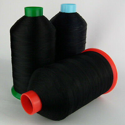 £9.95 • Buy STRONG BONDED NYLON SEWING THREAD 20s 30s 40s 60s TKT LEATHER CRAFT REPAIR BLACK
