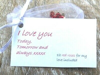 Cheap Valentines Romantic Gift Idea For Girlfriend Fiancee Wife Valentines Gift • 1.99£