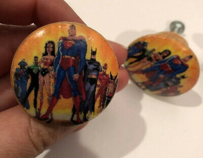 $10 • Buy 3 Justice League Wooden Pull Knobs