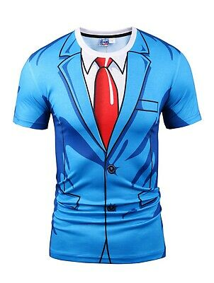 £16.99 • Buy Blue Suit Costume T-Shirt ( Novelty Fancy Dress Costume All Over Print Printed )