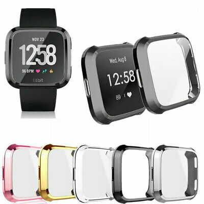 $ CDN6.50 • Buy TPU Silicone Case Watch Screen Protector Cover For Fitbit Versa Smart Band Lite