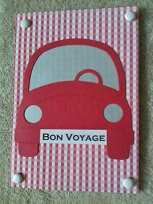 Handmade Bon Voyage Card - Red Car • 1£