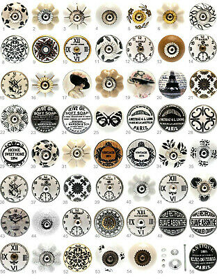 Black White Grey Cream Vintage Ceramic Knobs Drawer Pull Cupboard Door Porcelain • 2.70£