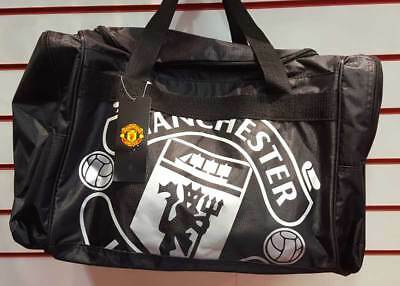 Manchester United Fc Large Travel Holdall Gym School Bag Red • 19.99£