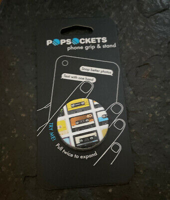AU10.31 • Buy PopSockets Single Cell Phone Grip Stand -80s/90s Tapes On Tapes Mixed Tape