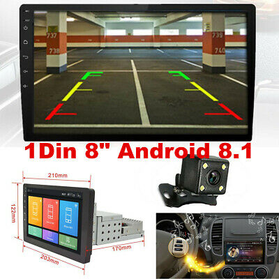 AU203.88 • Buy 8  Android 8.1 Car Stereo Navigation GPS Radio Head Unit Camera Mirror Link 1Din