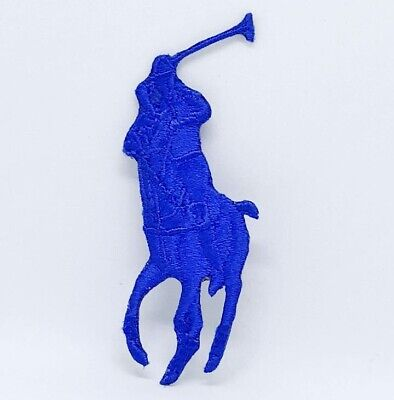 Ralph Lauren Polo Logo Sew On Iron On Embroidered Patch - Blue • 1.99£
