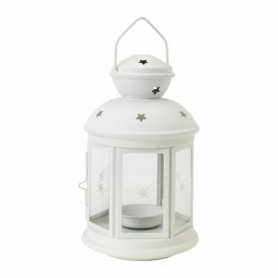 $15.19 • Buy ROTERA Lantern For Tea Light Candle Indoor Outdoor White NEW