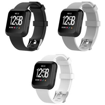 $ CDN8.95 • Buy 3 PACK For Fitbit Versa 2 Replacement Band Watch Sport Large Black White Gray