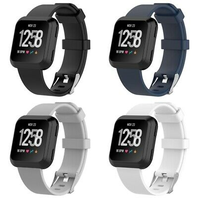 $ CDN11.72 • Buy 4 PACK For Fitbit Versa 2 Replacement Silicone Bands Watch Sport Band Large Size