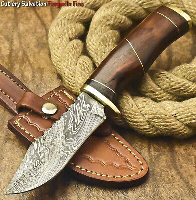 $14.50 • Buy Cutlery Salvation Custom Hand Forged Damascus Steel Hunting Knife | Walnut Wood