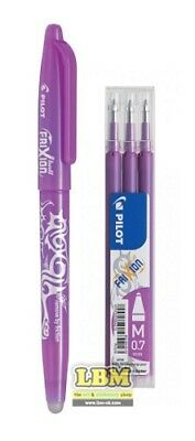 Pilot FriXion BALL 07 Erasable Rollerball Pen PURPLE Ink + Refill Pack • 6.50£