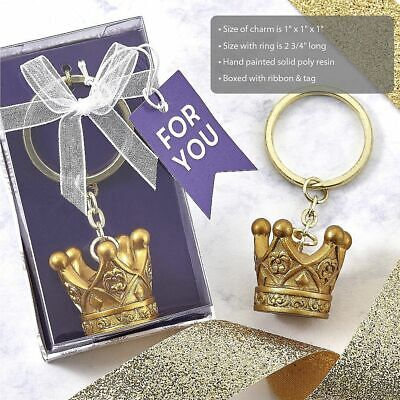 17-144 Make It Royal Gold Crown Key Chain - Fairy Tale Wedding Party Favors • 33.32£