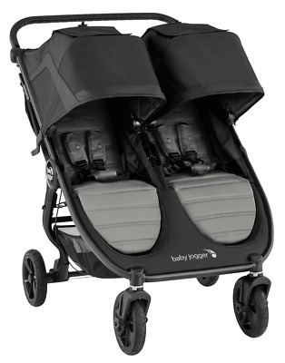 Baby Jogger City Mini GT2 Twin Baby Double Stroller Slate NEW 2020 • 390.73£