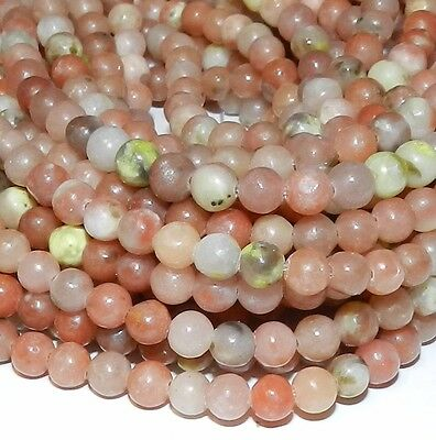 $7.90 • Buy GR745 Pink Lepidolite 4mm Round Natural Gemstone Beads 16