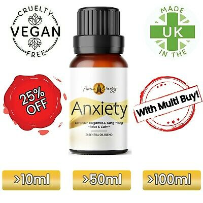 ANXIETY Essential Oil (Lavender, Ylang, Bergamot) Essential Oil For Anxiety • 8.99£