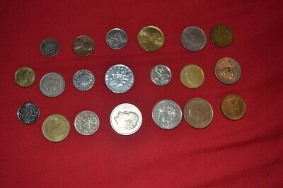 20 Old Foreign  Coins 1950 - 2005    (PK5B) • 3.25£