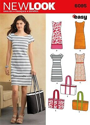 £9.25 • Buy 6095 MISSES' DRESSES & TOTE BAG Sewing Pattern NEW LOOK Easy  Sizes 10 - 22