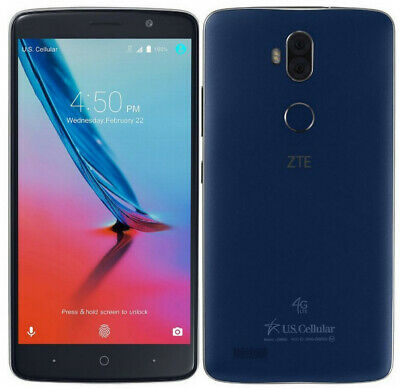 $53 • Buy ZTE Blade Max 3 | Grade: A | US Cellular | Blue | 16 GB | 6 In Screen