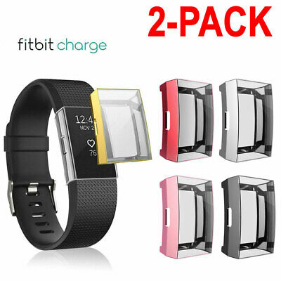 $ CDN7.32 • Buy 2X TPU Silicone Full Screen Protector Clear Case Cover For Fitbit Charge 2 USA